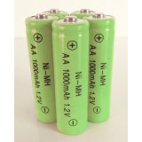 5-Pack NiMH AA 1000mAh 1.2V Rechargeable Batteries
