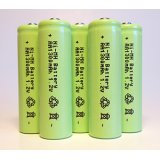 5-Pack NiMH AA 1300mAh 1.2V Rechargeable Batteries