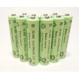10-Pack NiMH AAA 300mAh 1.2V Rechargeable Batteries