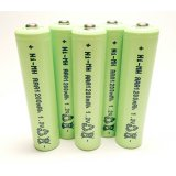 5-Pack NiMH AAA 1200mAh 1.2V Rechargeable Batteries