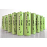 10-Pack NiMH AA 1000mAh 1.2V Rechargeable Batteries