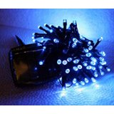 120 Blue LED Solar String Lights