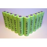 10-Pack NiMH AA 1300mAh 1.2V Rechargeable Batteries