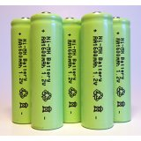 5-Pack NiMH AA 1600mAh 1.2V Rechargeable Batteries