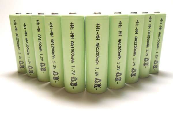 10-Pack NiMH AA 1200mAh 1.2V Rechargeable Batteries - Click Image to Close