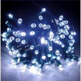 120 White LED Solar String Lights