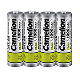 Camelion 4-Pack NiCd AA 1000mAh 1.2V Rechargeable Batteries
