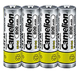 Camelion 4-Pack NiCd AA 800mAh 1.2V Rechargeable Batteries
