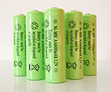 5-Pack NiMH AA 600mAh 1.2V Rechargeable Batteries
