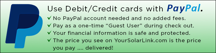 Use credit and debit cards with PayPal!