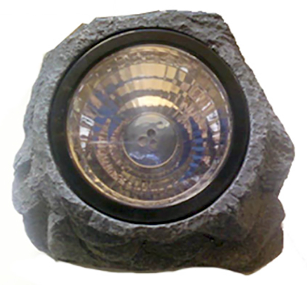 Small Garden Solar Spot Lights: Stone Solar Spot Light (small)