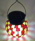 Tiffany-style Mosaic Glass Solar Decorative Light Shepherd Hook